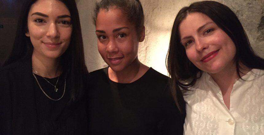 Några av de nya ansiktena i SOMs styrelse  fr v Affa Alizadeh (Playground Music), Theodora Nordqvist (Parent's House) och Vera Vinter (Bjärka Produktion)